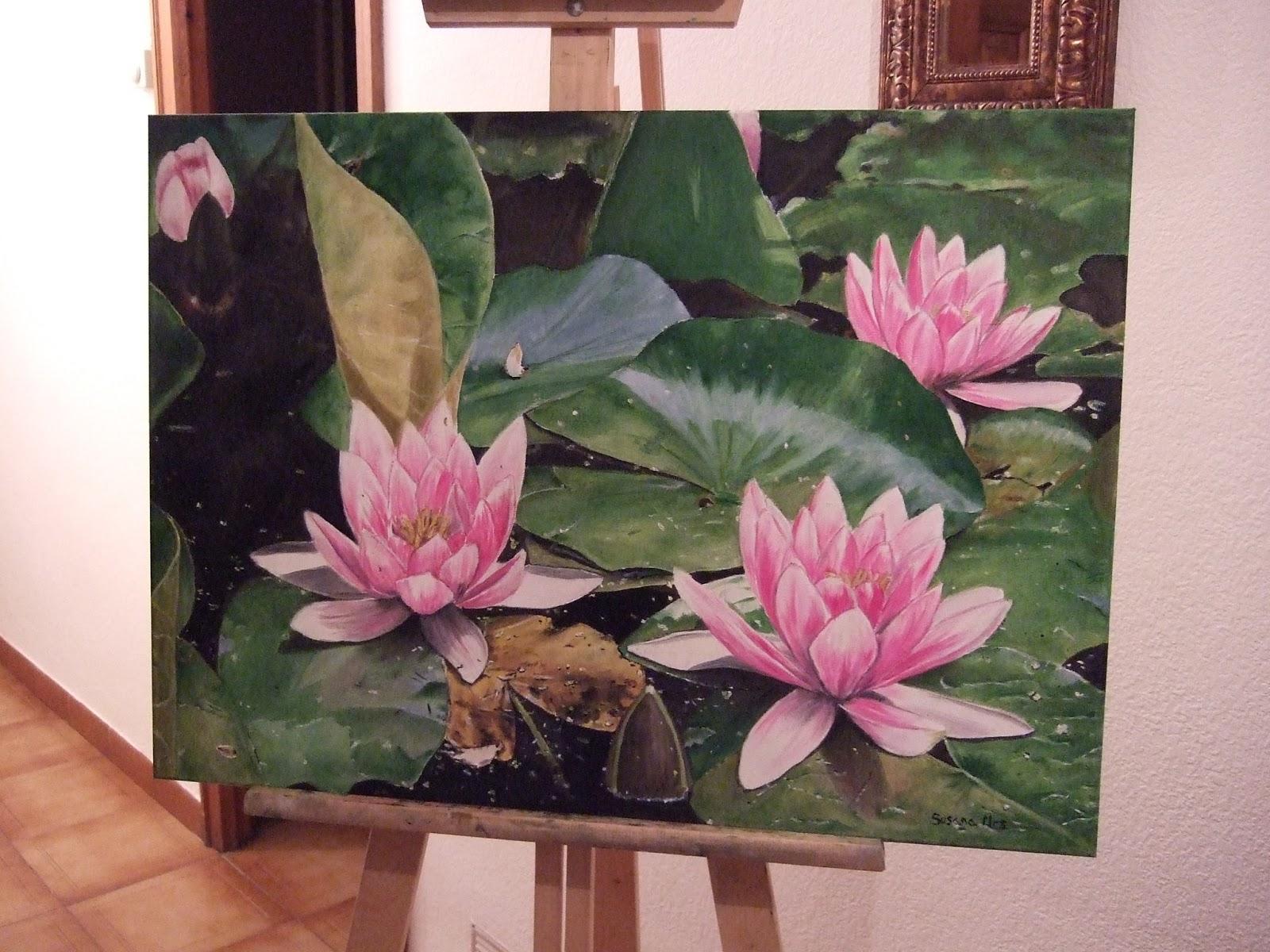 Momentos leo sobre lienzo nen fares for Pintura para estanques