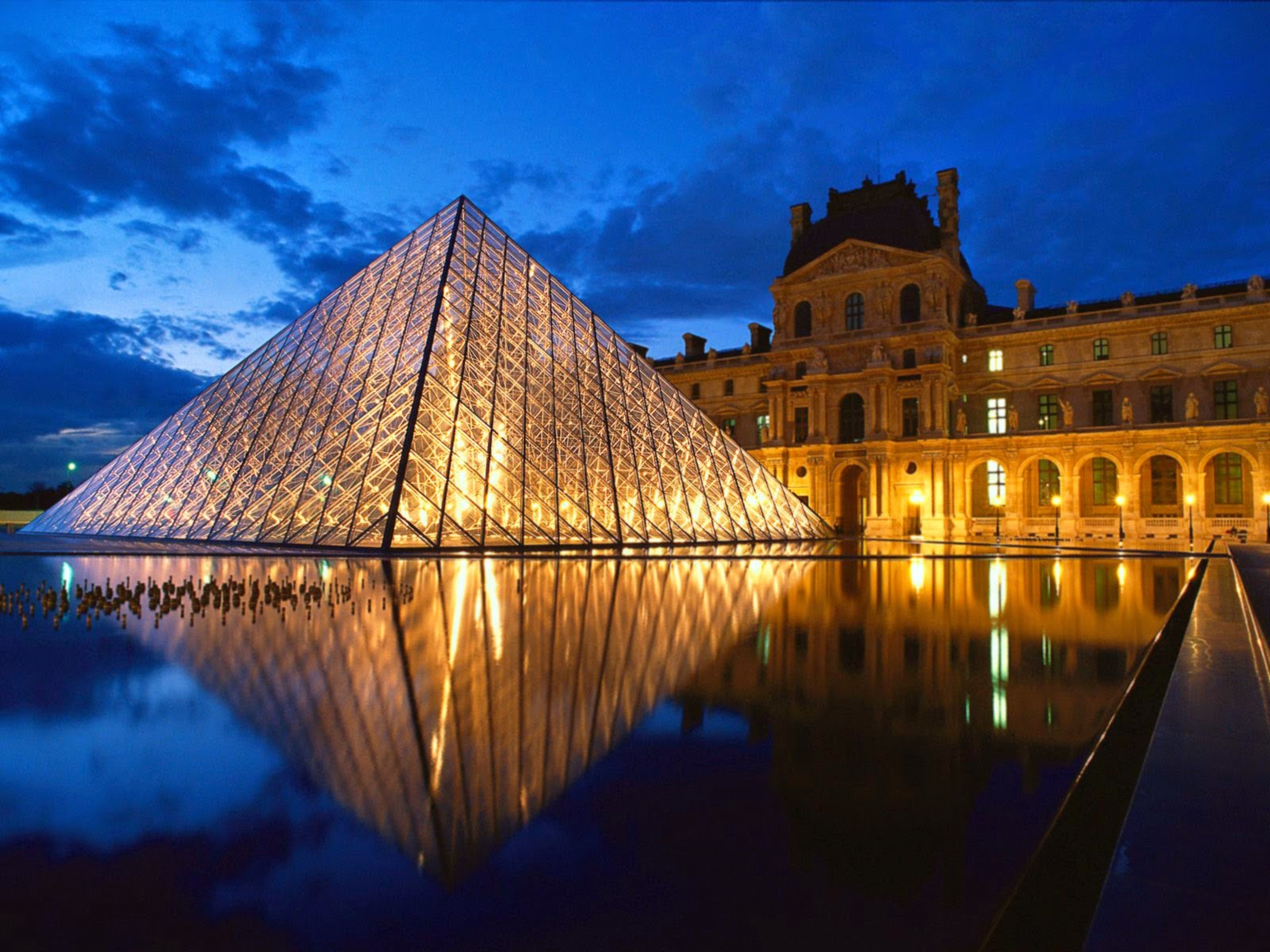 Pyramid at Louvre Museum - Paris, France