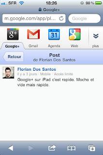 L'application Google+ sur iPhone bientôt disponible