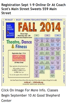Main Street Theater & Dance Alliance Fall 2014 Season