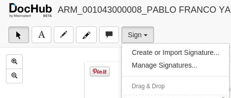 Crear firmar con DocHub