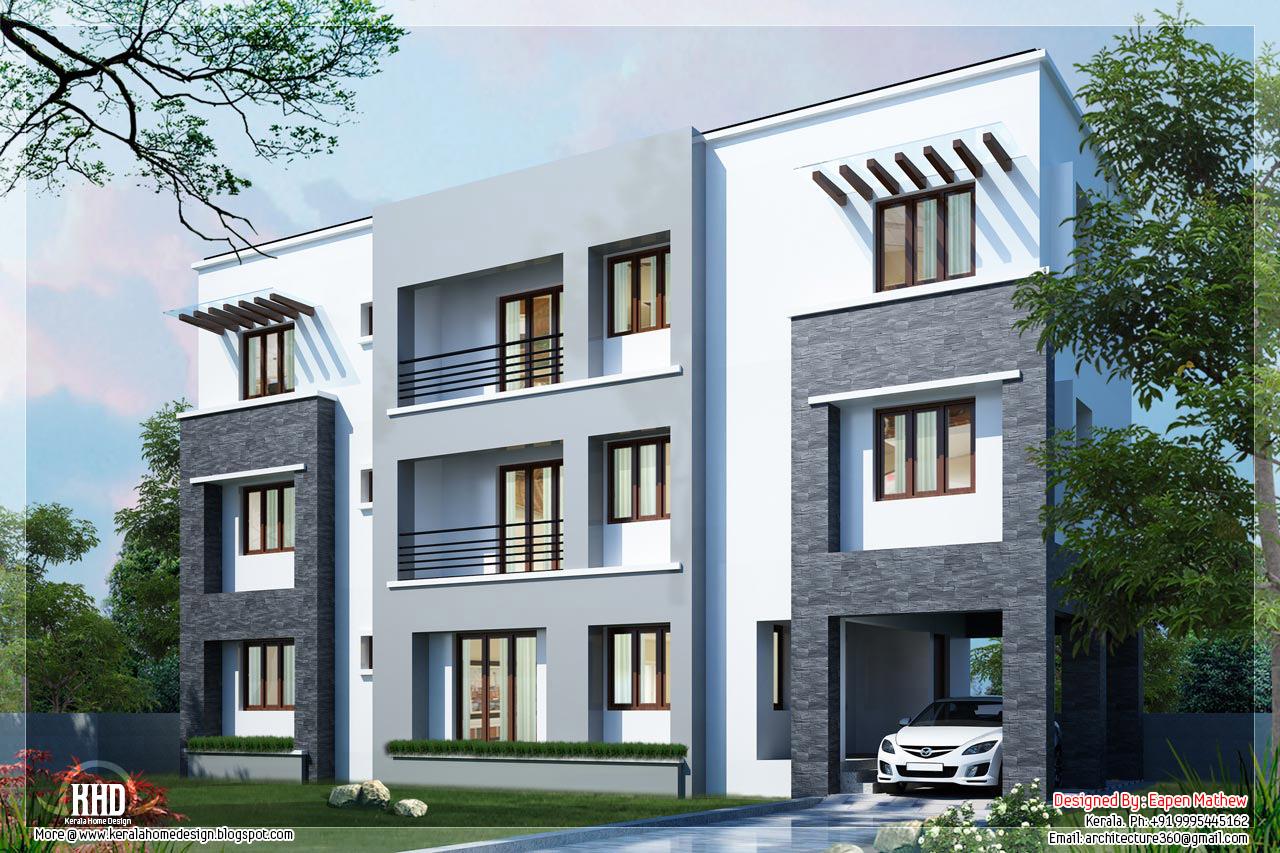 Kerala home design and floor plans 14 beautiful villa for Villa front elevation photos kerala