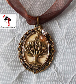 Kanzashiland colgante árbol de la Vida