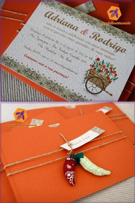 Eco Wedding Convite