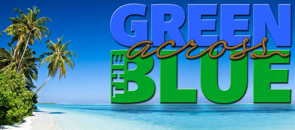 Green Across The Blue