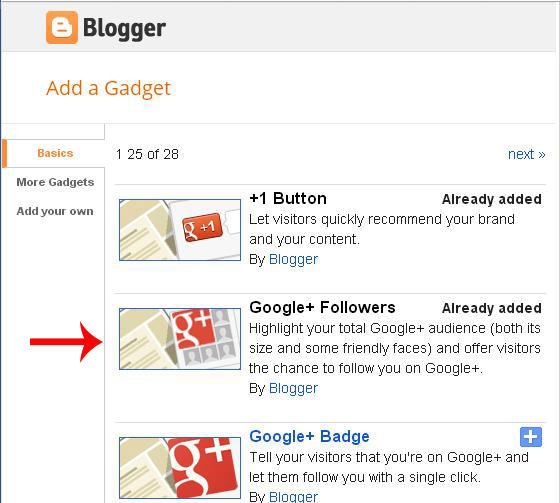 How To Add Google+ Followers Widget in Blogger