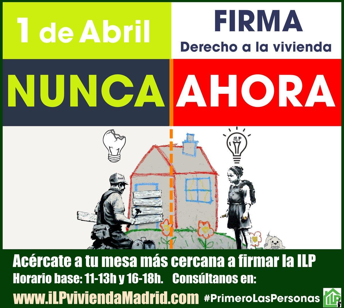 1 de abril : Firma por el derecho a una vivienda digna