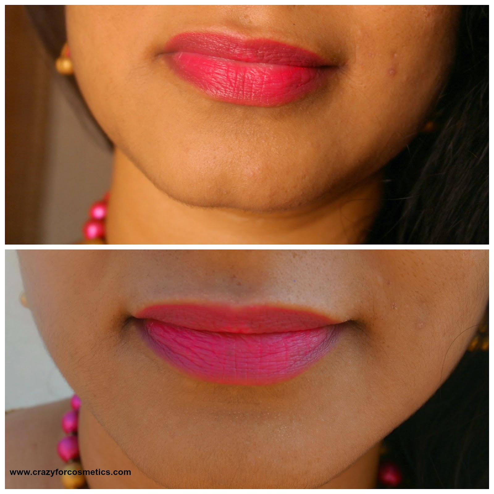 mac impassioned lipstick lip swatch