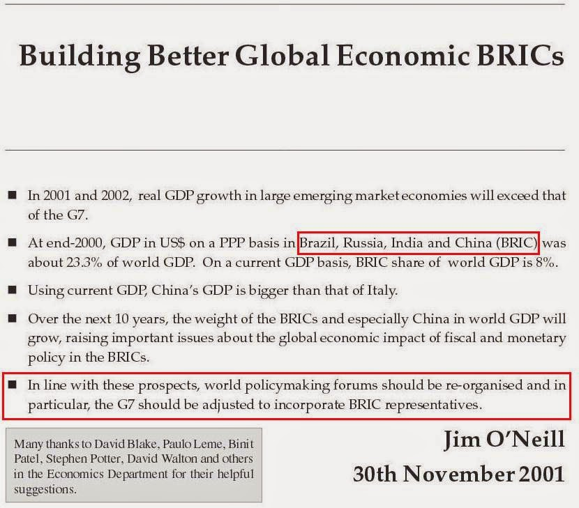 goldman sachs brics thesis