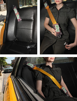 Milky Way Seatbelt Advertisement