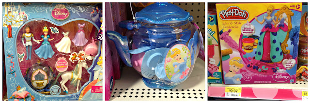 Cinderella toys from the the toy section at Walmart #DisneyPrincessWMT