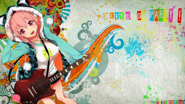 Sonico Guitar Anime Girl 9u
