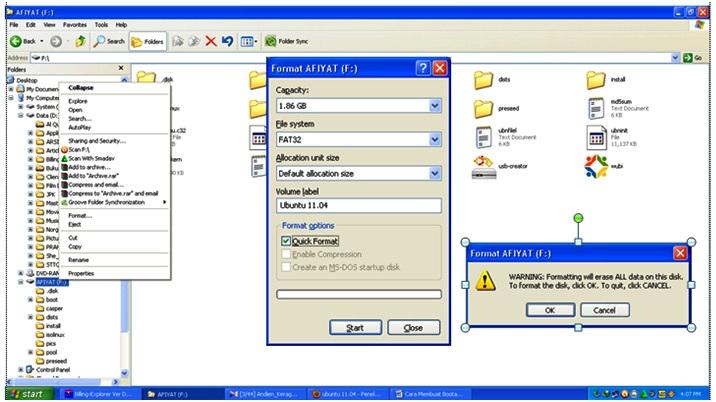 Jalankan file unetbootin-windows-581.exetelah Anda Unduh sebelumnya.