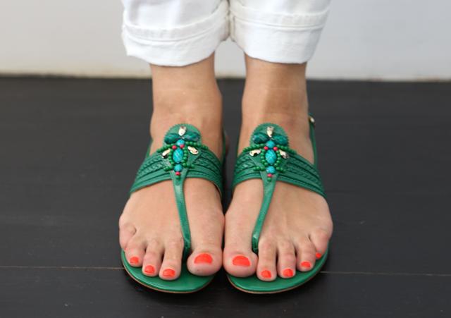 L.K. Bennett Eleni Beaded Sandals