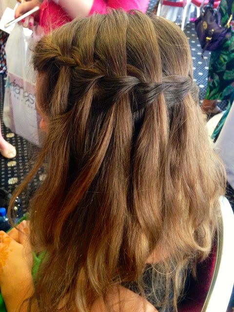 watterfall braid by The Parlour at the Big Blogger Conference