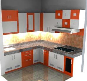 desain rumah dapur bentuk l terbaik