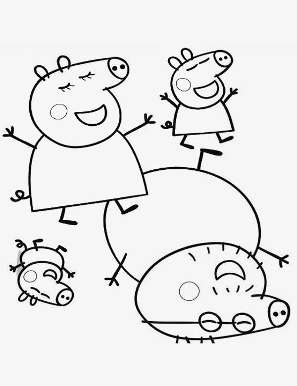 Kolorowanki Komiksy Do Druku Za Darmo Dla Dzieci I: Świnka Peppa Po Polsku: Kolorowanki Świnka Peppa