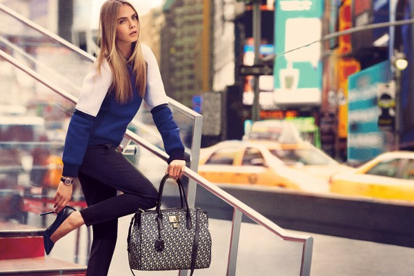 CARA DELEVINGNE & OLLIE EDWARDS for DKNY FALL 2013 ...