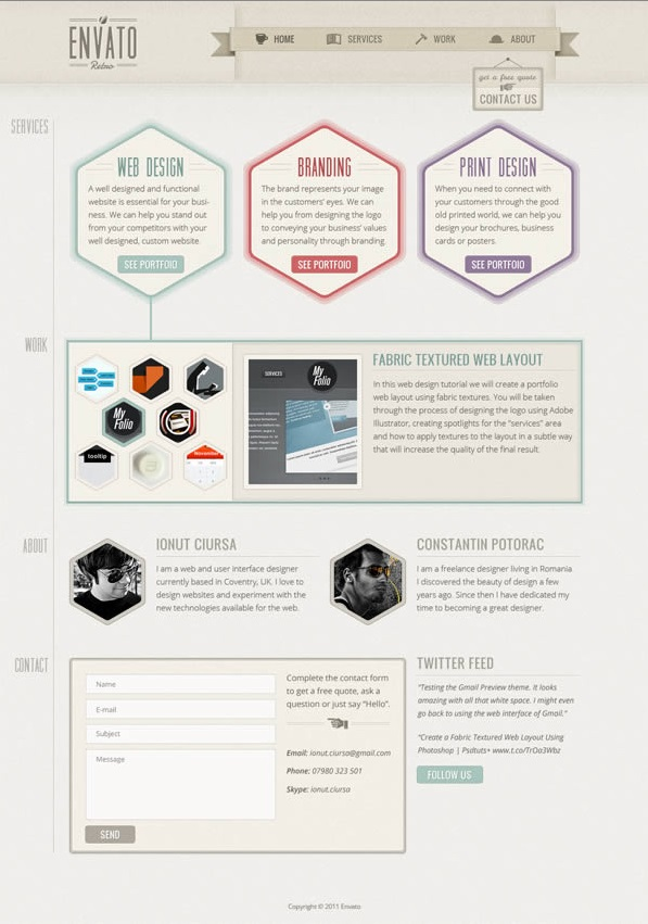 simple photoshop web design tutorials