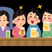 飲み会が苦手な人のイラスト(私服)