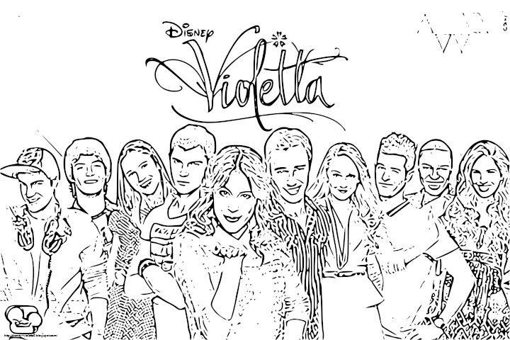 Violetta*: Kolorowanki z Violetty 2