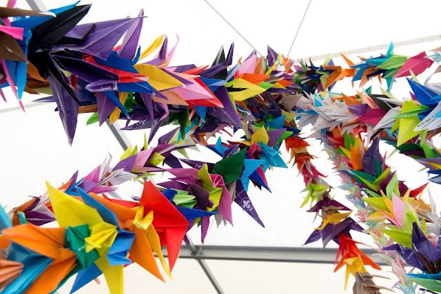 origami cranes: simplelivingeating.com