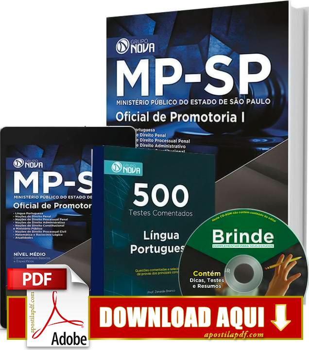 Apostila MP SP Oficial de Promotoria PDF Download Grátis