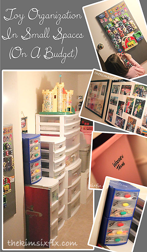 Toy organization in small spaces and on a budget the kim six fix - Organize small space property ...