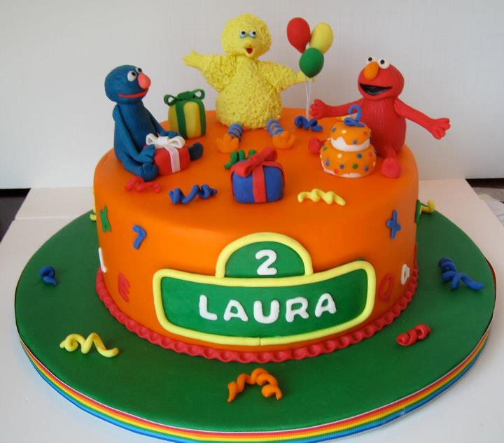 Cakegirl on the Run Sesame Street Birthday Cake