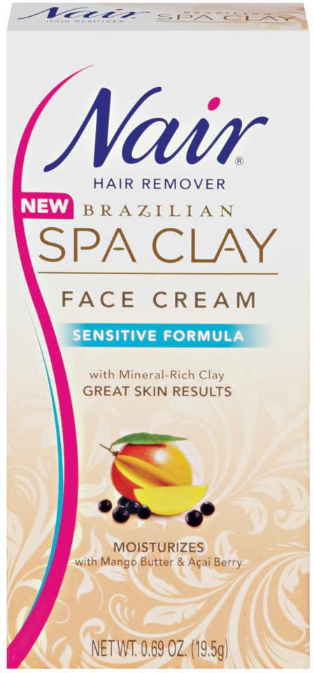 Nair Hair Removal Brazilian Spa Clay Roll On Wax