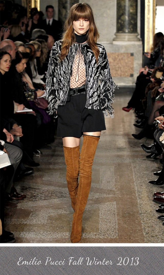 Emilio Pucci Thigh High Boots Fall Winter 2013