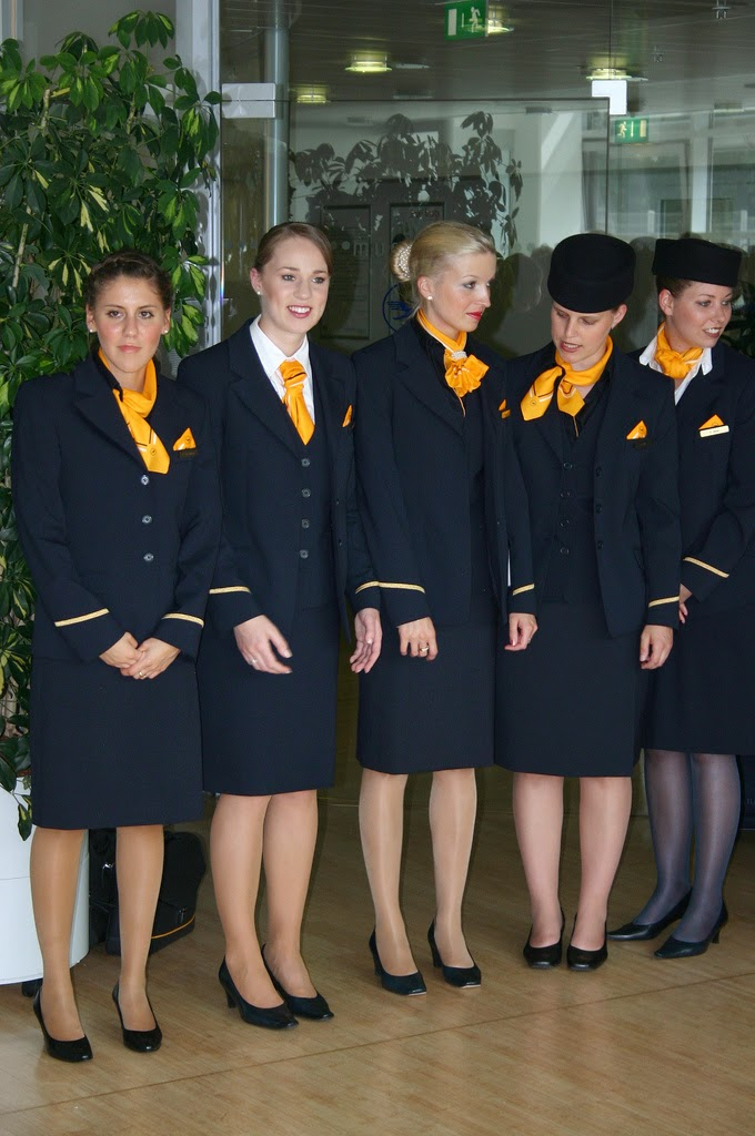 Naked Flight Attendant http://worldscrews.blogspot.com/2011/04/beautiful-lufthansa-flight-attendants.html