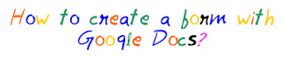 How to create a form using Google docs MohitChar
