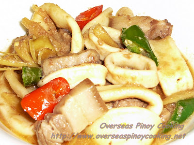 Guinataang Squid and Pork