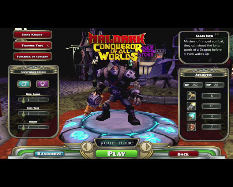 Level Up Maldark Conqueror of All World's Game