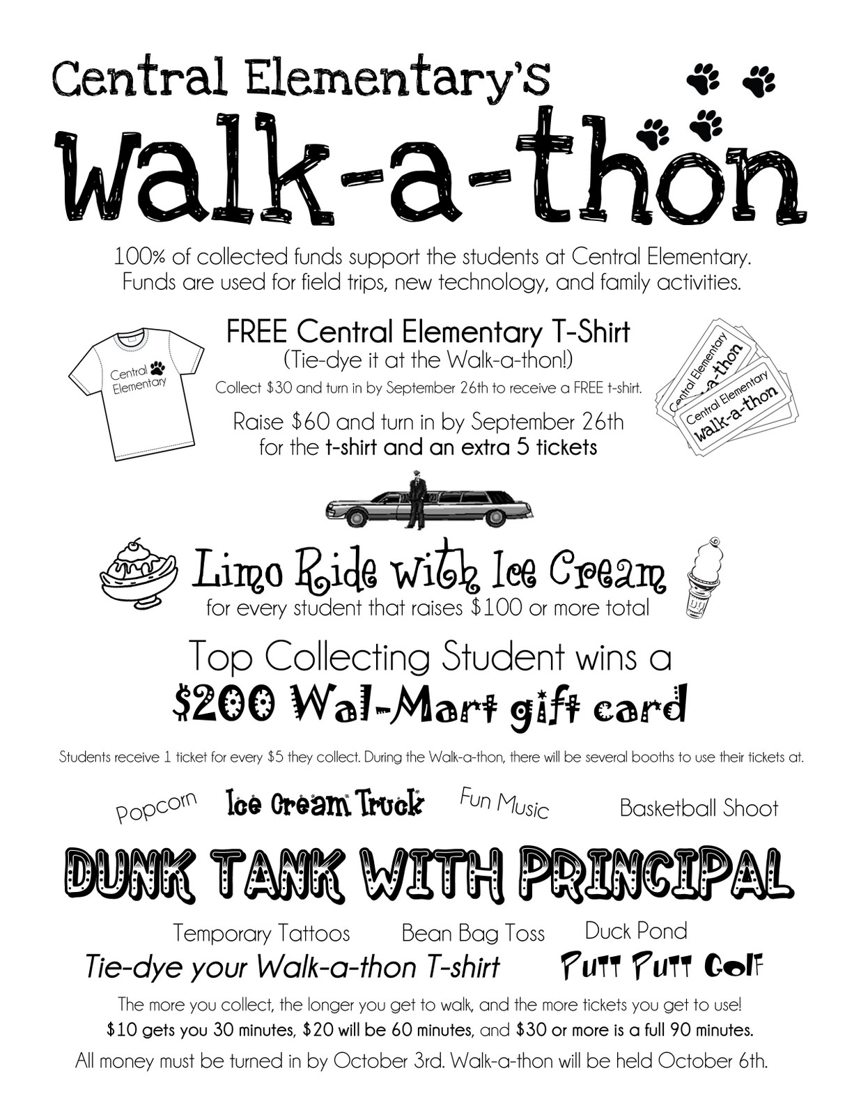 walk a thon flyer template