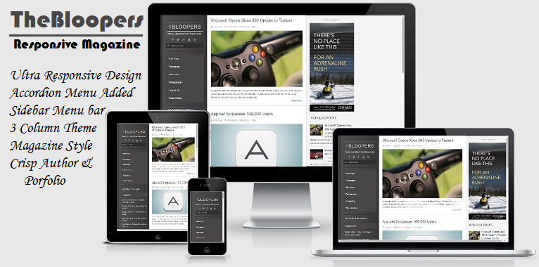 the bloopers Responsive Template