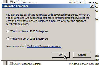 Christophers brain dump ca signed certificates with vmware view select windows server 2003 enterprise as the minimum supported ca and click ok yelopaper Gallery