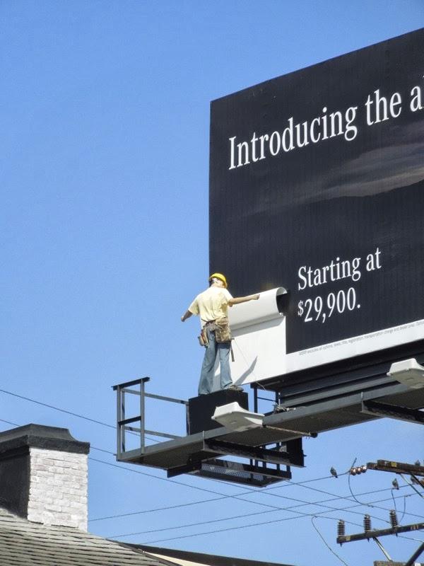 Mercedes-Benz new CLA 3D mannequin billboard installation