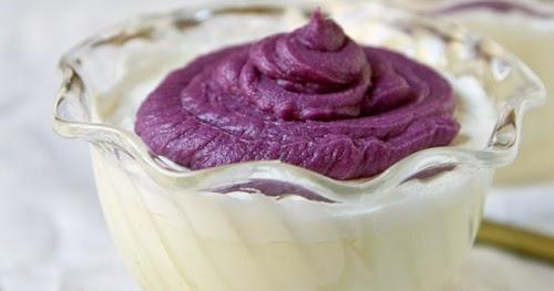 [Japanese Recipes] Purple Sweet Potato Mont Blanc Pudding ...
