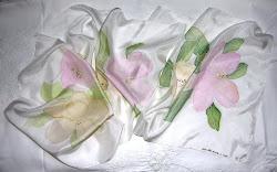 "sciarpa bianca seta ""Magnolie"""