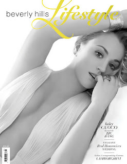 Kaley Cuoco sexy cleavage in Beverly Hills Lifestyle Magazine 2012 Spring