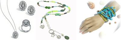 Modeschmuck in Sterling Silber und Edelsteine aus Indien