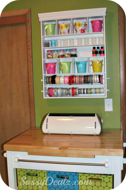 craft organizer ribbons buttons tin pails for craft room