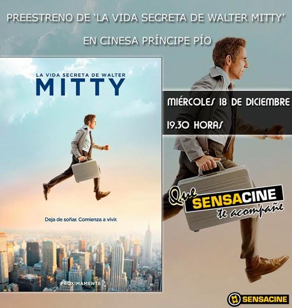 "Entradas gratis preestreno ""La vida secreta de Walter Mitty"" en Madrid"