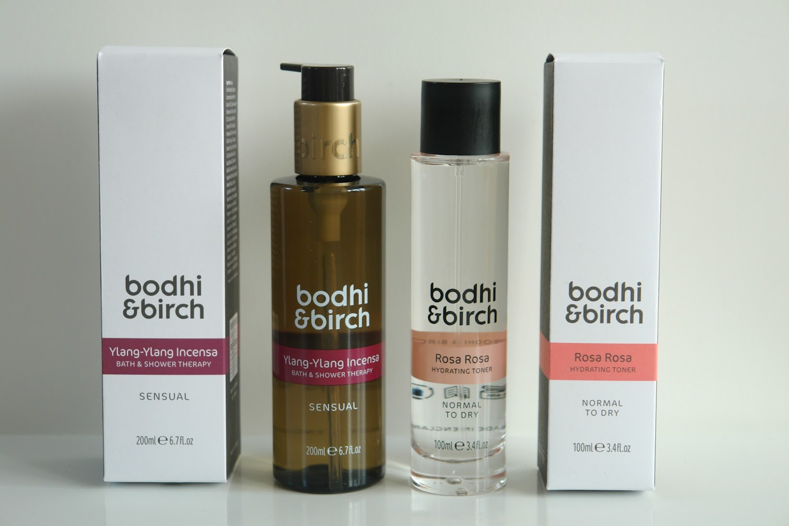 Bodhi & Birch Hydrating Toner and Bath & Shower Therapy, Bodhi & Birch Rosa Rosa Hydrating Toner, Bodhi & Birch Ylang-Ylang Incensa Bath & Shower Therapy, skincare, toner, beauty, review,