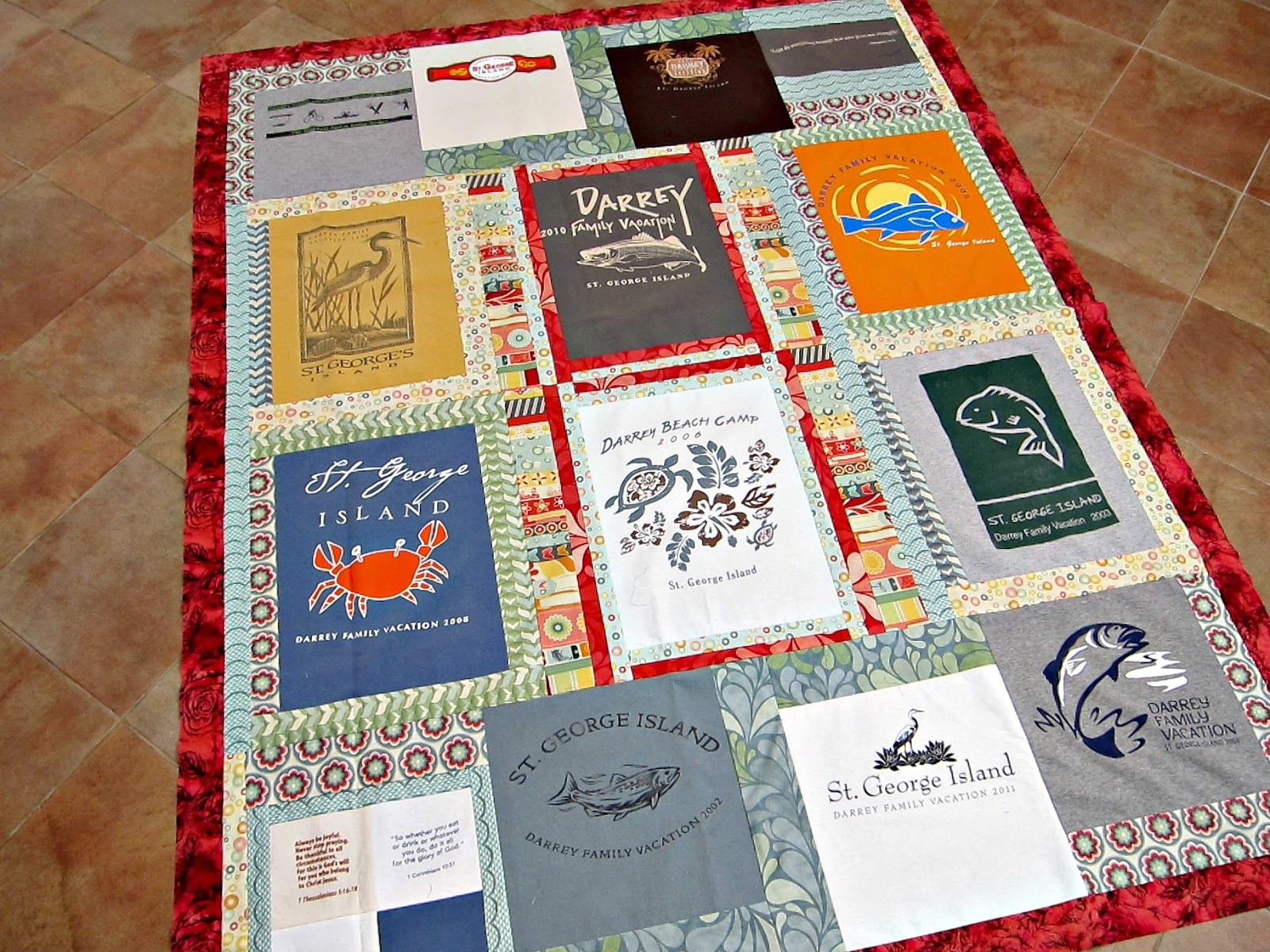 Quilting Patterns For T Shirt Quilts : The Quilting Violinist: A complete T shirt quilt top