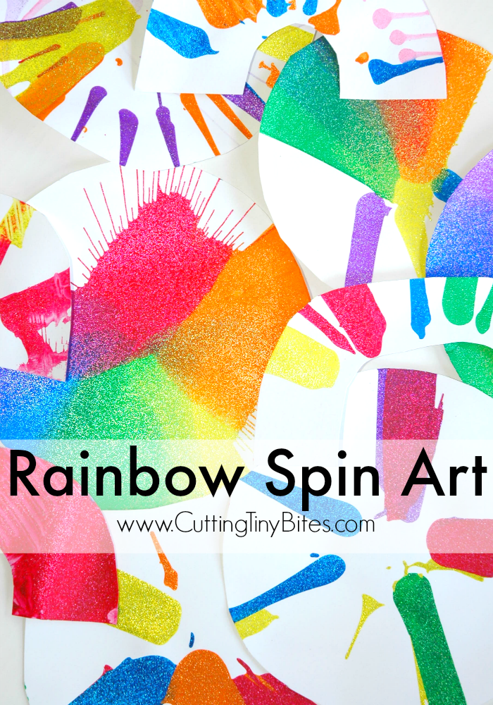Rainbow spin art process painting craft for kids for Art and craft classes for kids