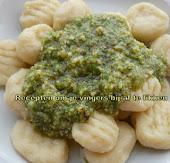 Gnocchi van aardappelen en notenpesto