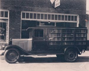 Historic bookmobile
